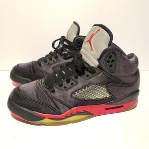 Nike Air Jordan 5 Satin Bred Size #4.5Y = #6Womens